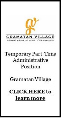 Gramatan Village - Temp Job ad, up July 14, 2021